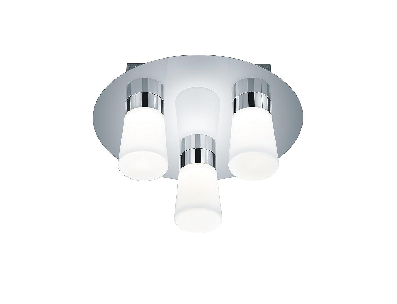 Trio Leuchten LED-Bad-Deckenleuchte, chrom, Glas opal matt weiß ...