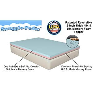 top 4 recommended visco elastic memory foam mattress topper