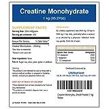 UltiNutrient Creatine Monohydrate Micronized 200mesh Bulk Powder, Unflavored (1 kg) Pure High Performance Formula (Tamaño: 1 kg)