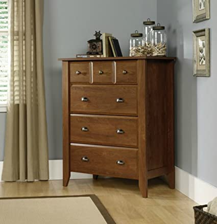 Sauder Contemporary 4 Drawer Dresser - This Storage Chest Is Made of Laminated Manufactured Wood -Perfect Decor for Your Home Office, Bedroom or Living Room -Great Clothes Organizer -5 Years Warranty!