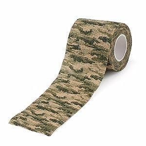 DROK 10 Rolls Camouflage Self Adhesive Bandage