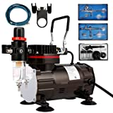 VIVOHOME 110-120V Professional Airbrushing Paint System with 1/5 HP Air Compressor and 3 Airbrush Kits ETL Certified (Color: 1/5 HP Air Compressor & 3 Airbrush Kits)