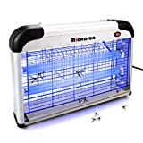 Micnaron Electric Bug Zapper/Pest Repeller Control-Strongest Indoor 2800 V 6000ft² UV Lamp Flying Fly Insect Killer Mosquitoes Flies Killer Repellent Traps Eliminator Catcher lure Zap kills Mosquito