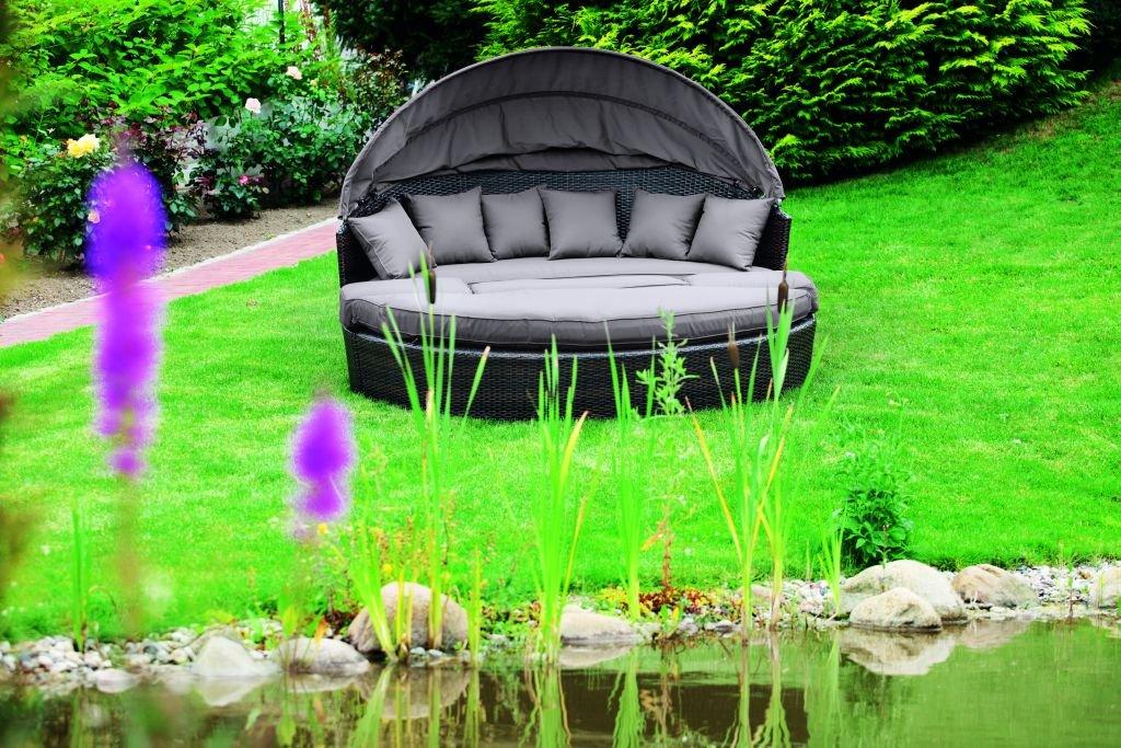 MERXX Relaxinsel mit Sonnenschutz inkl. Hocker und Kissen online kaufen