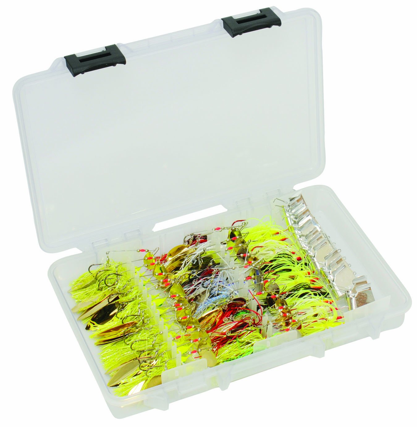 Plano fto spinnerbait buzzbait tackle box 3700 size ebay for Plano fishing tackle boxes