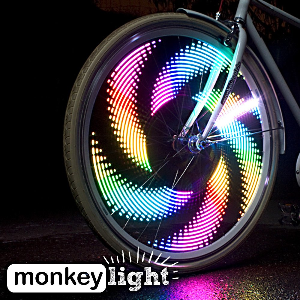 MonkeyLectric 32 Color Waterproof Bike Wheel Light