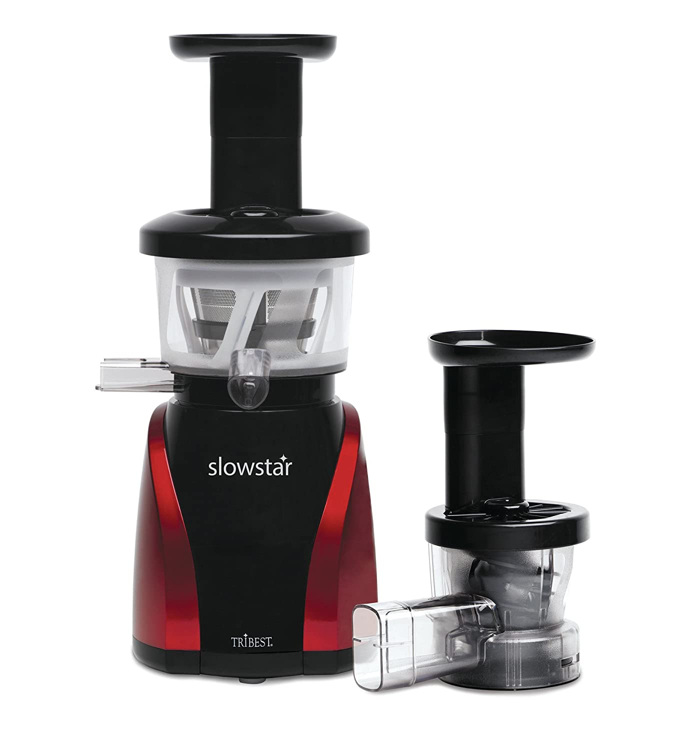 Tribest SW-2000-B Slowstar Vertical Slow Juicer and Mincer, Red/Black