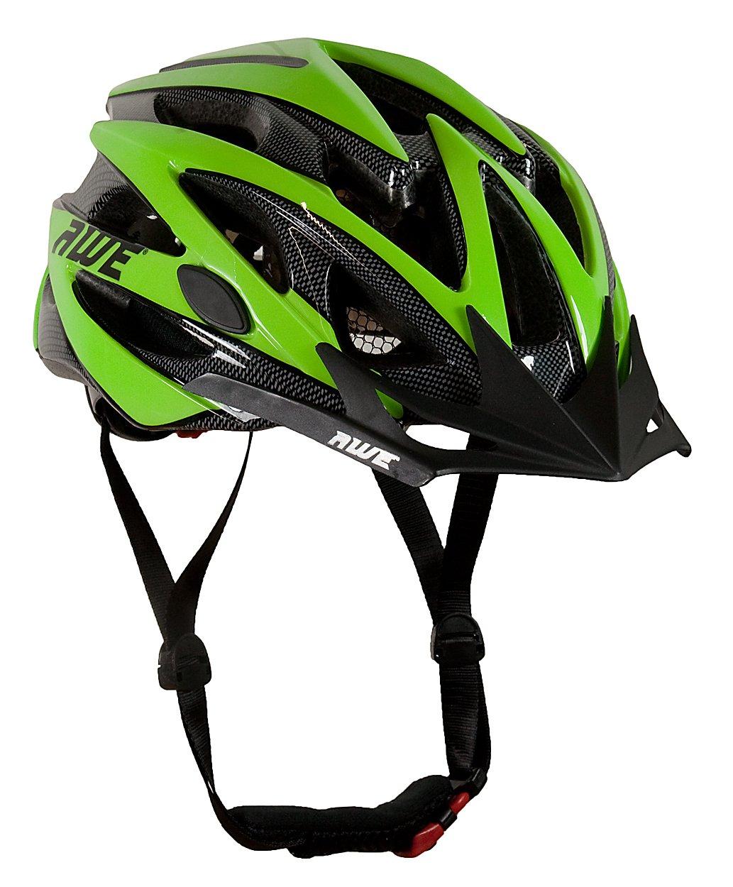 <p>Casco para bicicleta de color negro/verde. Talla 56-58cm. Multiuso</p>