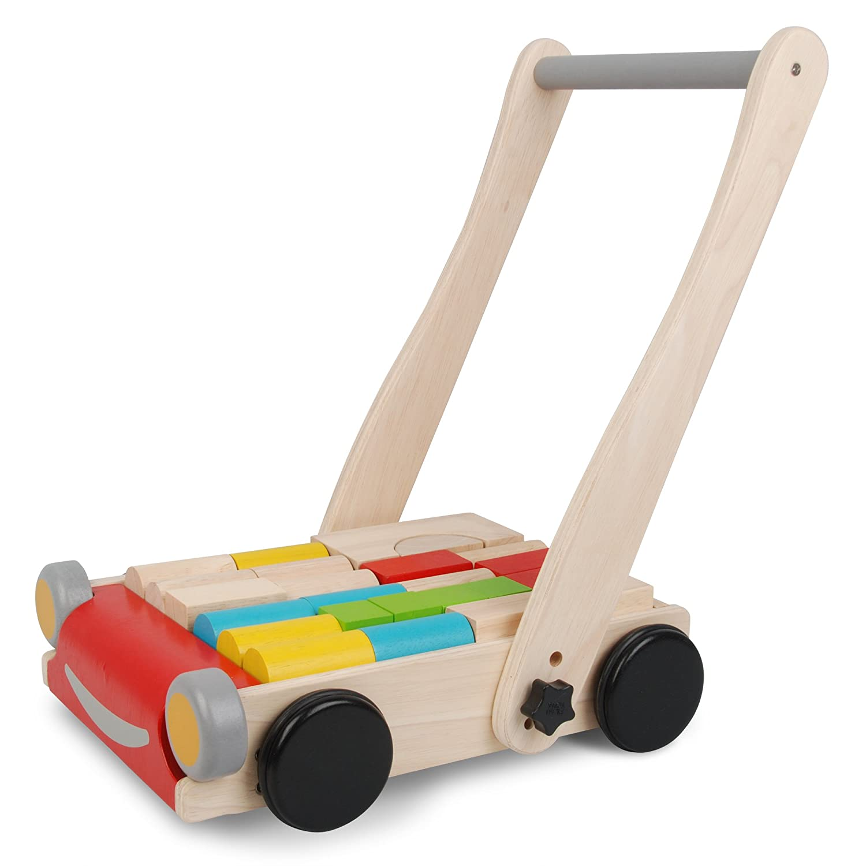wooden baby walker with alphabet blocks