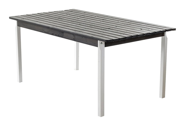 Ambientehome Esstisch, Gartentisch, Holztisch Stranda, eckig, 160 x 90 cm, weiß / grau kaufen
