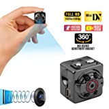 Mini Spy Hidden Camera,1080P Portable Small HD Nanny Cam with Night Vision and Motion Detective,Perfect Indoor Covert Security Camera for Home and Office