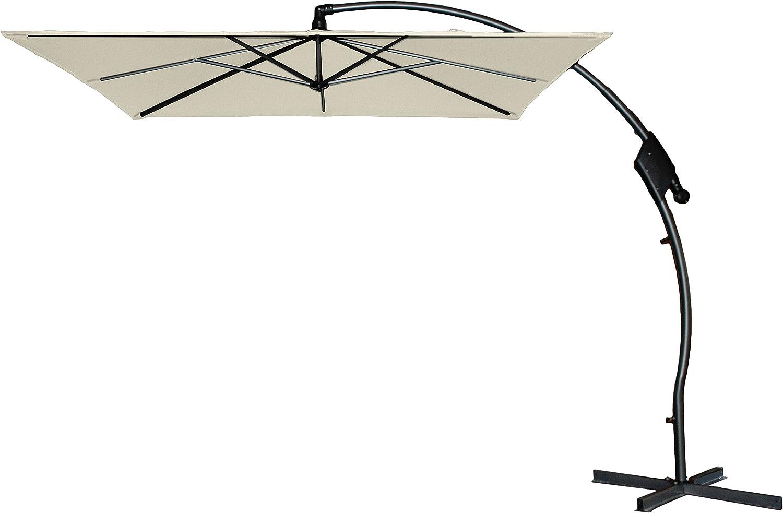 Hartman Ampelschirm 250x250 cm Tenero natur Sonnenschirm Sonnenschutz incl. Schirmfuß