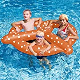"""Pool Float Premium Giant Pretzel Swimming Pool Floats for Adults and Kids by Aquatix Pro, Amazing Design, 60"""" Large Size, Durable, Inflatable Floating Seat For up to 3 People, Let the Fun Begin!"""