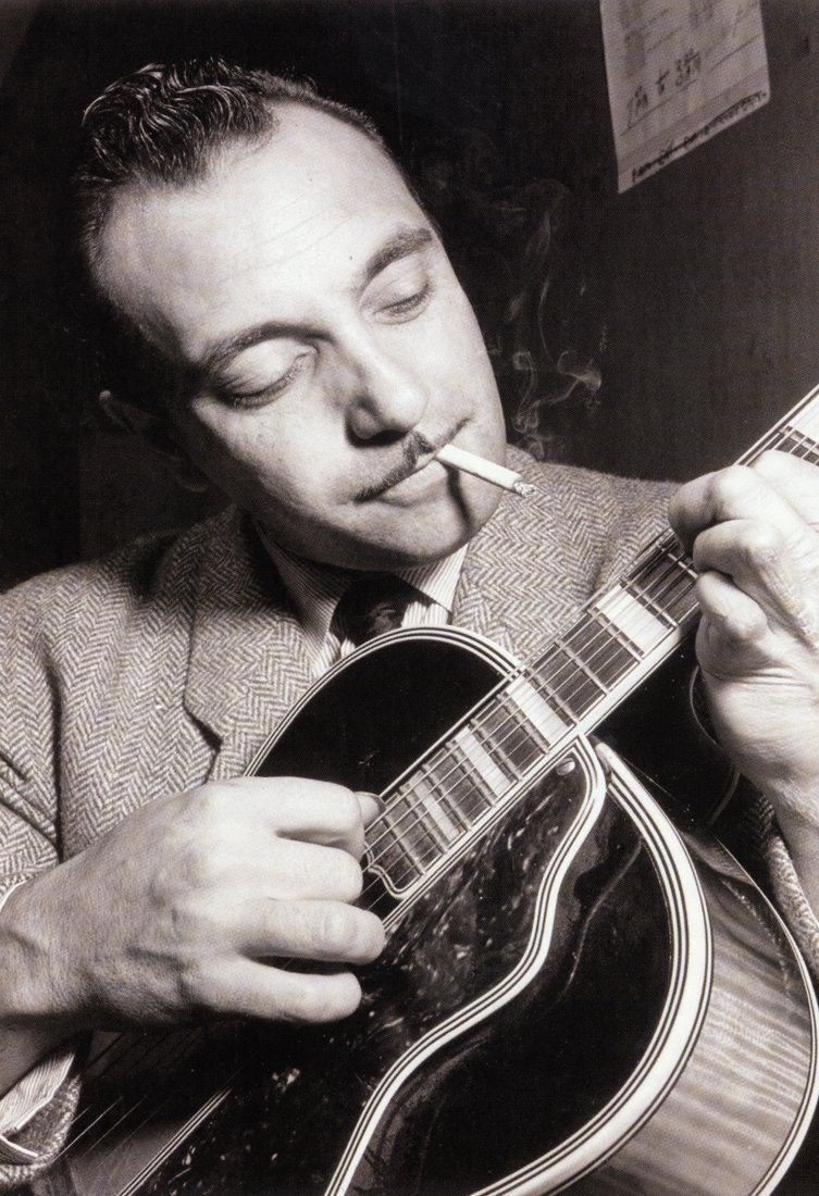 Django Reinhardt Poster, Smoking and Playing Guitar,