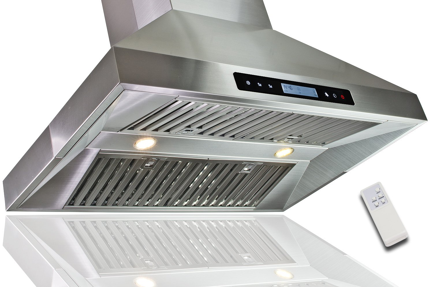 "Golden Vantage New European Style 36"" Kitchen Island Mount Stainless Steel Range Hood Vent w/ Remote Control 10A3-IS36 at Sears.com"