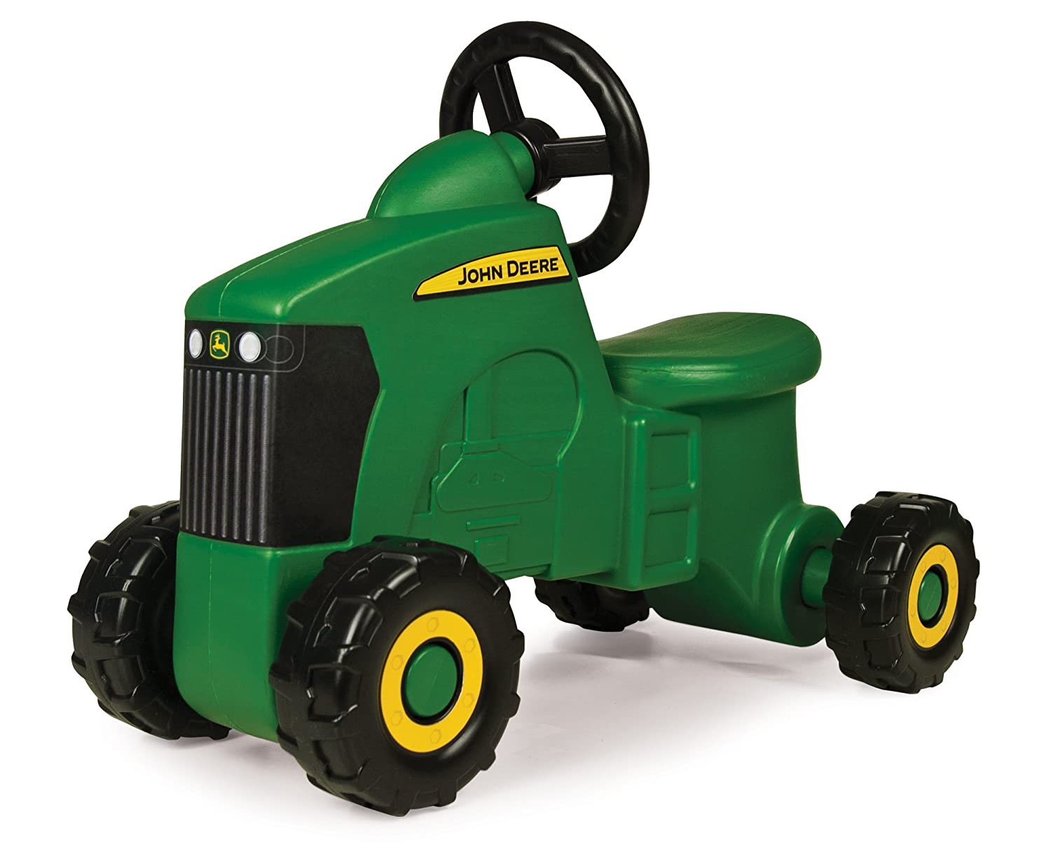 Kids John Deere Sit N Scoot Wide Wheelbase Toy Ride On