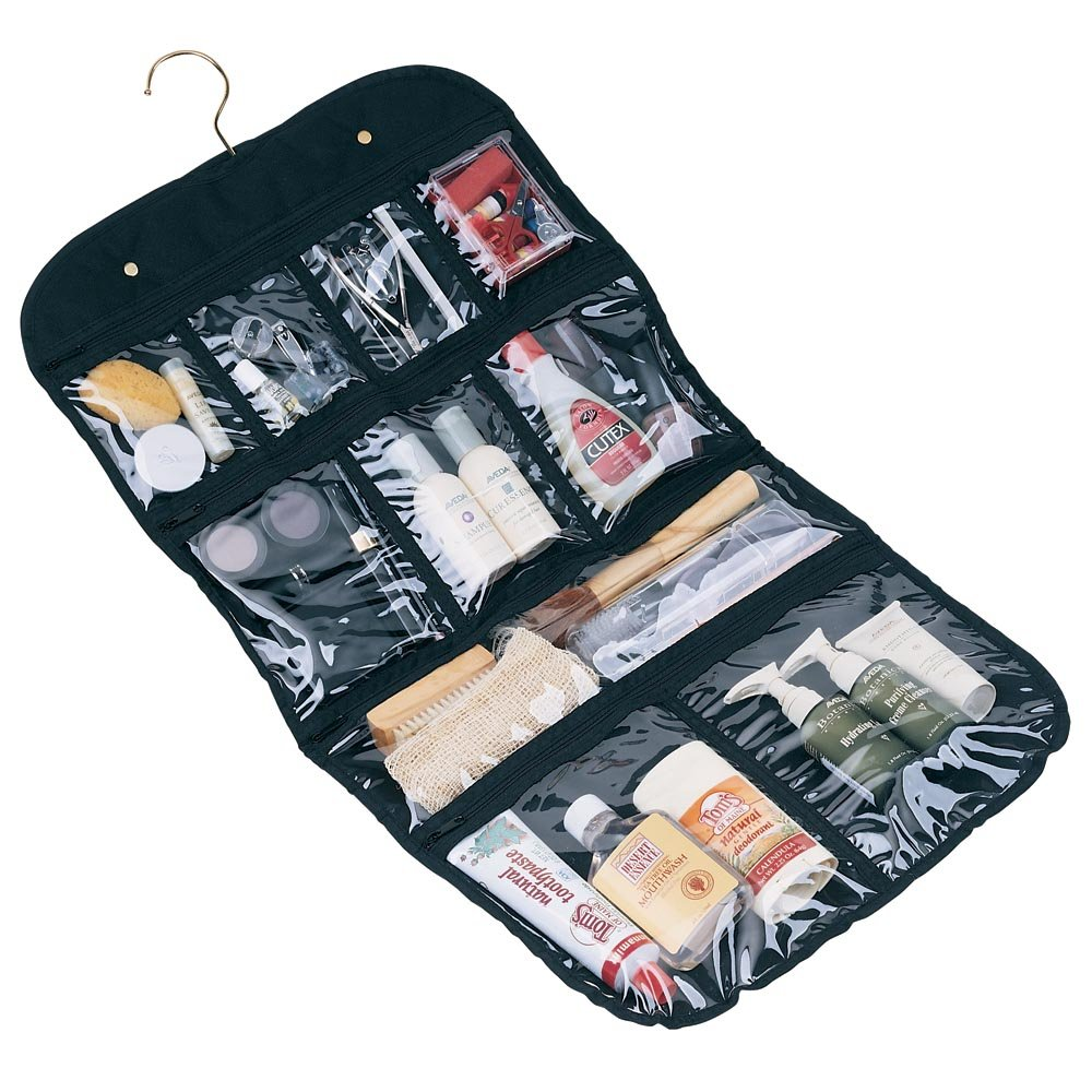 Household-Essentials-Hanging-Cosmetic-and-Grooming-Travel-Bag-Black
