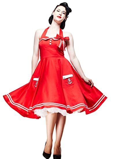 592097aeaebda Hell Bunny Plus Size Red Sailor Pinup Dress