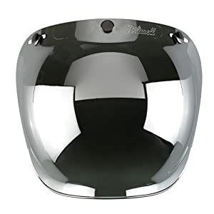 f56febba Biltwell Smoke Tint Bubble Shield (Chrome Mirror, One Size) (Color: Chrome  Mirror, Tamaño: One Size)