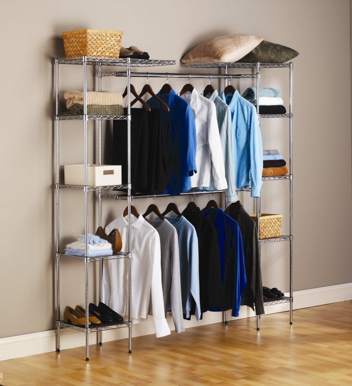 Tall closet organizer portable space saver hanger free ship
