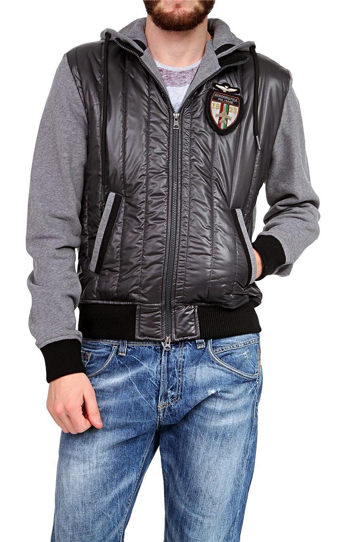 Aeronautica Militare Herren Blouson-Jacke , Farbe: Grau