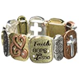 Alora Tile Stretch Bracelet, Faith, One Size (Color: Faith, Tamaño: One Size)