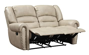 Glory Furniture G687A-RL Reclining Loveseat, Beige