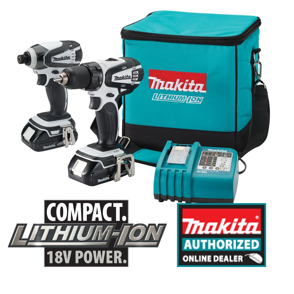 "Makita LXFD01CW 18V Compact Lithium Ion Cordless 1//2/"" Drive Carbon Brush Brand"