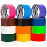 Multi Colored Duct Tape - Variety Pack -12 Colors - 10 yards x 2 inch rolls. Girls & Boys Kids Craft Duck Set, Fun DIY Art Kit – Rainbow: Black red orange white green yellow pink blue brown maroon yr (Color: Multicolor/Orange)