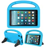 Kids Case for New Fire 7- TIRIN Light Weight Shock Proof Handle Kid –Proof Cover Kids Case for Amazon Fire 7 Tablet (5th Generation, 2015 Release and 7th Generation, 2017 Release),Blue (Color: Blue, Tamaño: For All-new Amazon Fire 7 2017/2015 tablet)