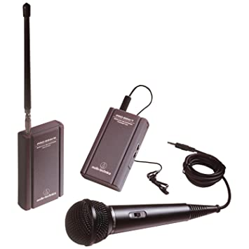 Audio Technica ATR288W VHF Battery Powered TwinMic Microphone System