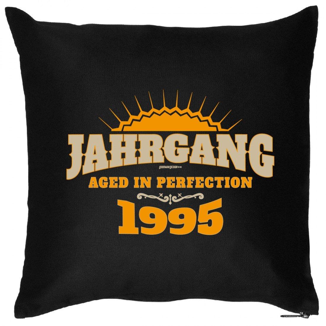 Cooles Couch Kissen zum Geburtstag – Jahrgang – Aged of Perfection 1997 – Sofakissen Wendekissen mit Spruch und Humor bestellen