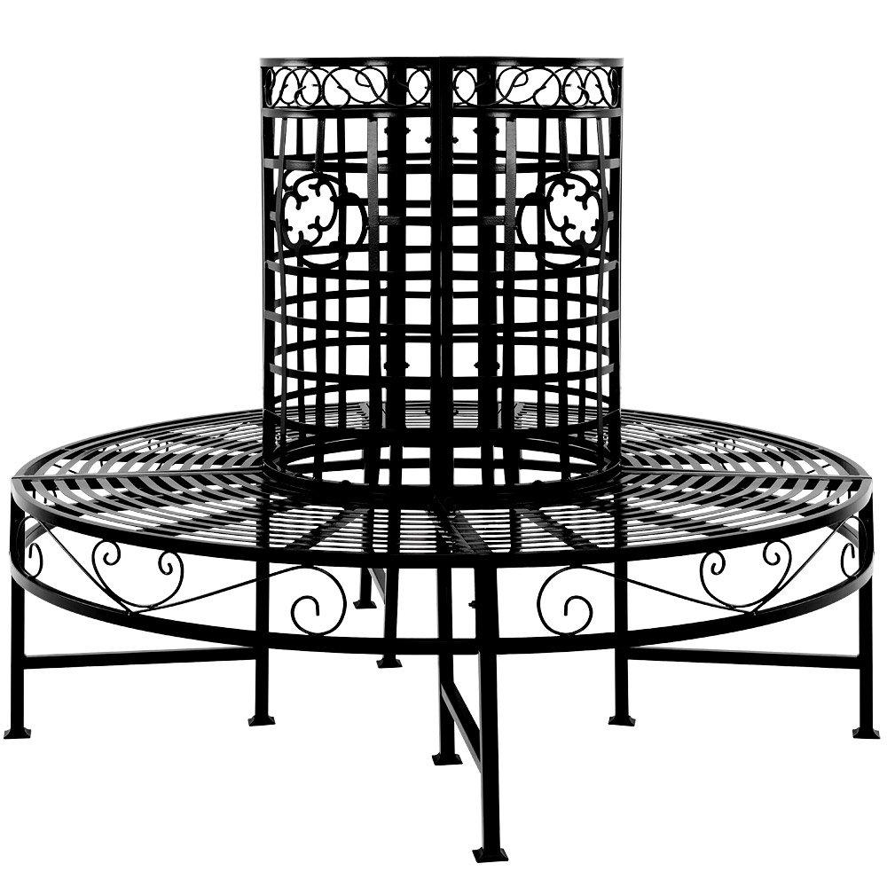 Baumbank 360° Metall, Ø 120cm – Sitzbank Gartenbank Rundbank Parkbank bestellen