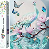 Dylan's Cabin DIY 5D Diamond Painting Kits for Adults,Full Drill Embroidery Paint with Diamond for Home Wall Decor(Peacock/12x16inch) (Color: peacock)