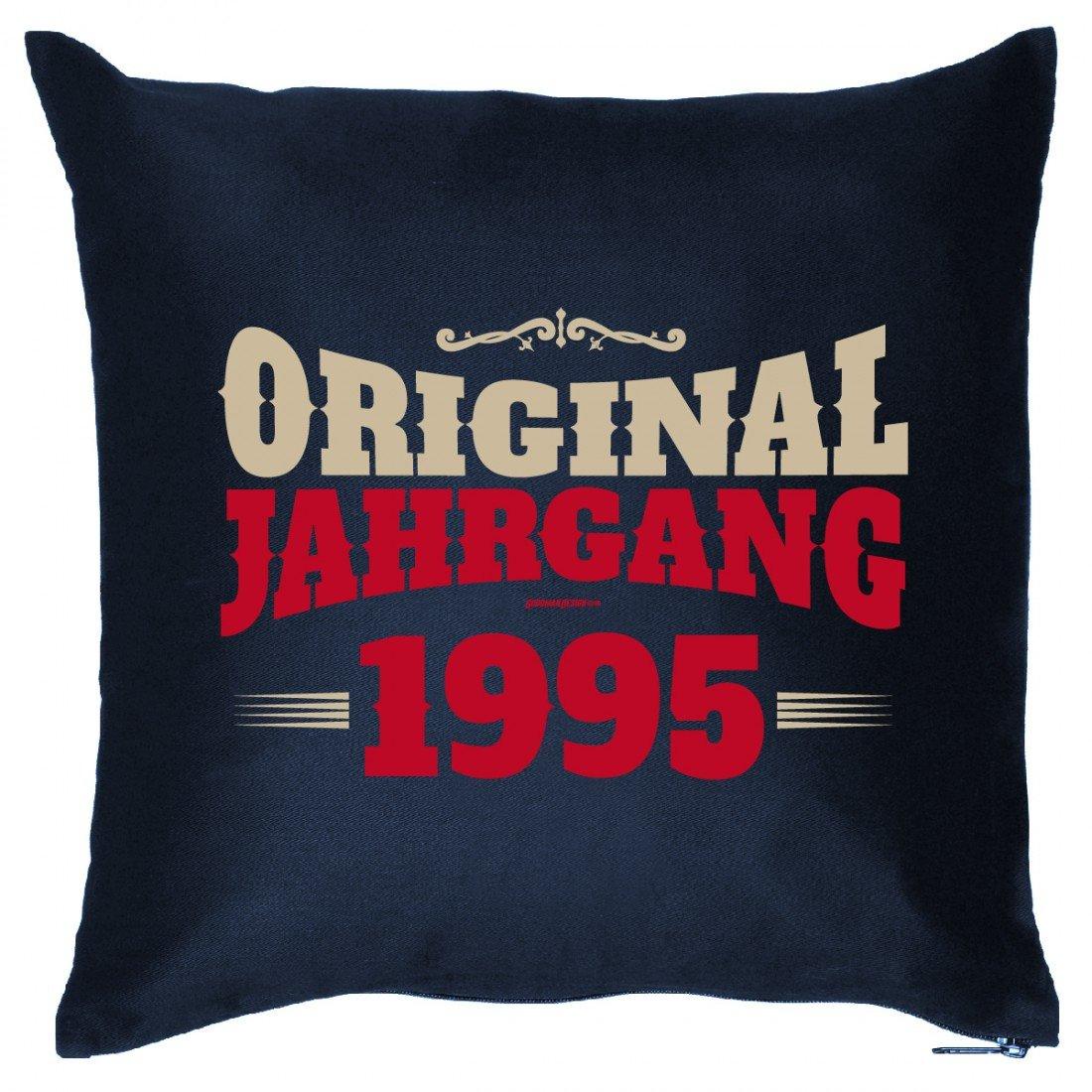 Cooles Couch Kissen für Jahrgang zum Geburtstag - Original Jahrgang 1995 - Sofakissen Wendekissen mit Spruch und Humor