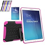 Galaxy Tab E 9.6 Case, Windrew Heavy Duty Hybrid Protective Case with Kickstand Impact Resistant For Samsung Galaxy Tab E 9.6