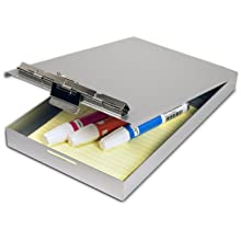 Saunders Aluminum Redi Rite Storage Clipboard, Top Open, Memo Size 6 x 10 x 1 inches, Fits Forms to Size 5.75 x 9.5 inches, (00213)