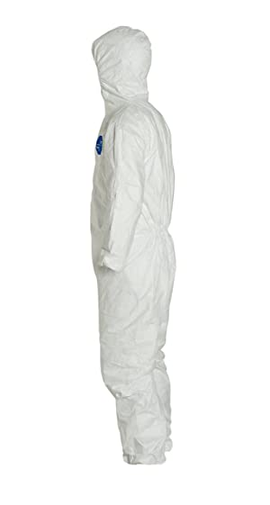 DuPont Tyvek 400 TY127S Disposable Protective Coverall with Respirator-Fit Hood and Elastic Cuff, White, 2X-Large (Pack of 25) (Color: White, Tamaño: 2X-Large (Pack of 25))