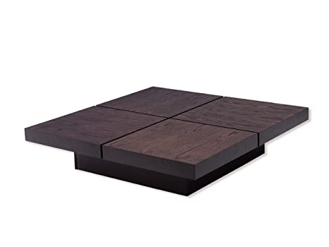 TemaHome Wood Honeycomb Panel Kyoto 4 Tops with Chocolate Oak Veneer Stained Brown, 111 x 111 x 25 cm, Brown