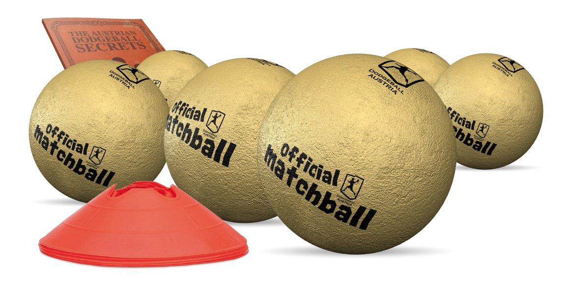 Dodgeballset Gold - Offizielle Dodgebälle der ADBA - 21 cm (ab 14 Jahren)