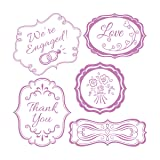 Sizzix Framelits Dies 5/Pkg W/Clear Stamps-Wedding Expressions