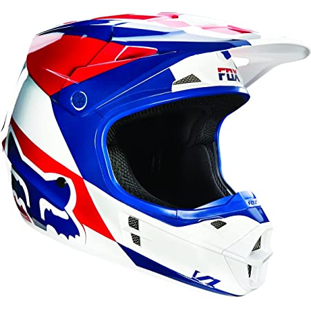 Casque Motocross Fox 2016 V1 Mako Bleu-Blanc