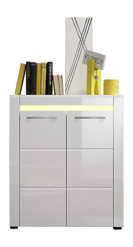 Maisonnerie 1440-886-01 Tommy Cassettiera/bianco/armadio Buffet Ultrabrillant LxAxP 73 x 86 x 34 cm