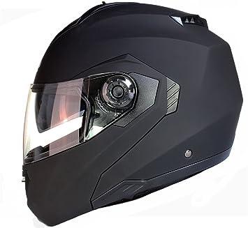 Casque Modulable Pare Soleil Interne Moto Scooter - Noir Mat - L (59-60cm)