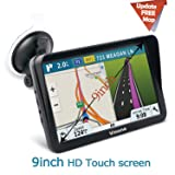 9inch HD Vinone GPS Navigation for car/Truck Capacitive Big Touchscreen, [2019 Upgraded Version] Voice Trun-by-Turn Route Guidance, Speed Limit Reminder Free Lifetime Map Update (Tamaño: 9inch)