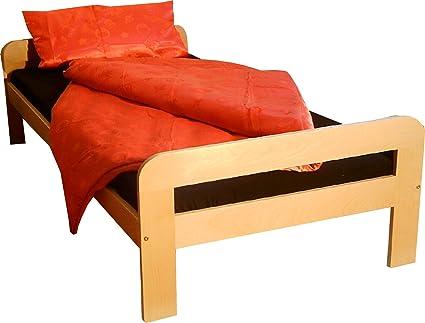 Marco de la cama en madera de haya de tamaño de rina 90 x 200 cm de colour de madera lacada