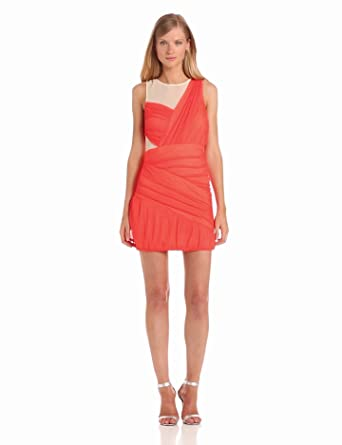 BCBGeneration Women's Criss Cross Dress, Flamingo, 0