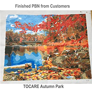 DIY Acrylic Paint by Numbers Kits for Adults Kids Painting by Number On Canvas Birthday Wedding Christmas Holiday Present,20x16Inch Maple Autumn Park (Color: Maple Autumn Park)