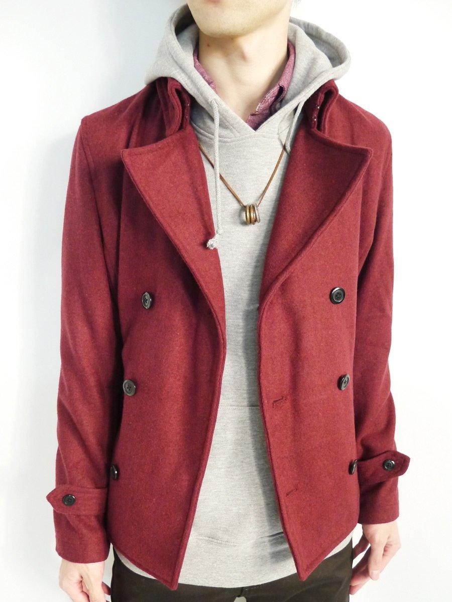 (モノマート) MONO-MART 8色 メルトンウールPコート ピーコート ナポレオン デザイナーズ