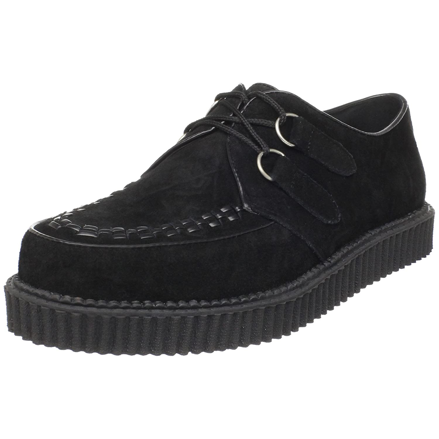 demonia unisex creeper mens black suede platform